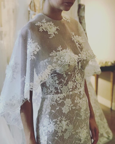 bridal cape erin cole gown
