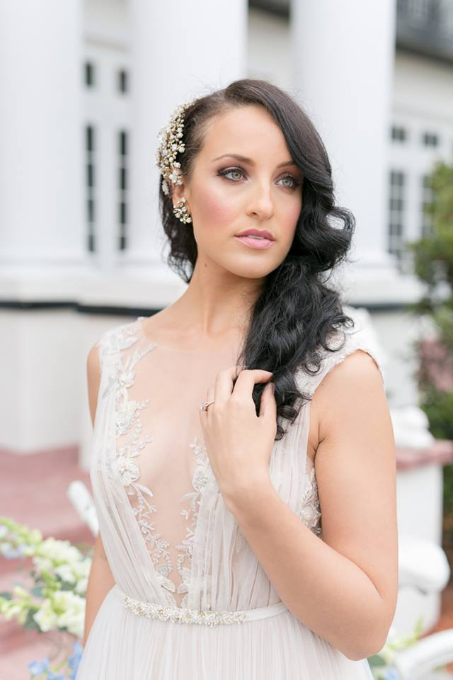 mia zwillinger gown plunging neckline dress