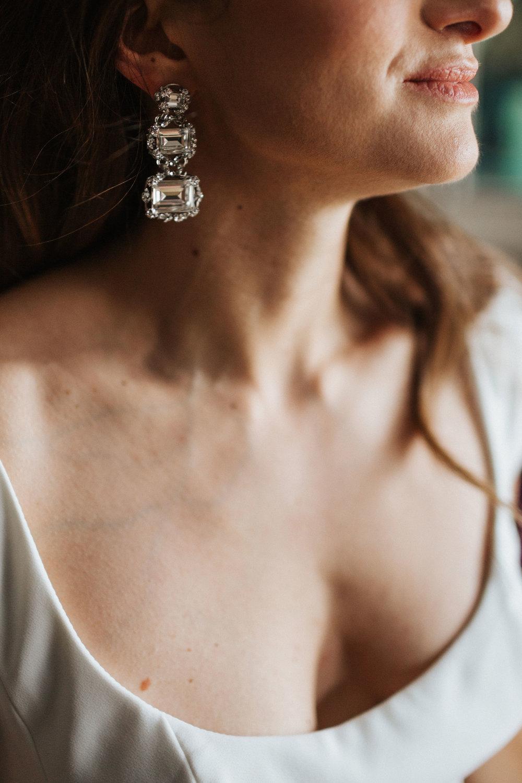 maria elena headpieces silver earrings clear crystal