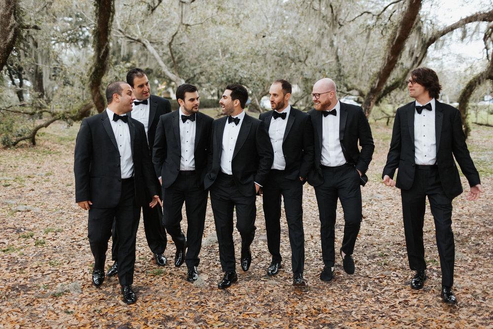 black tux luxury downtown orlando wedding