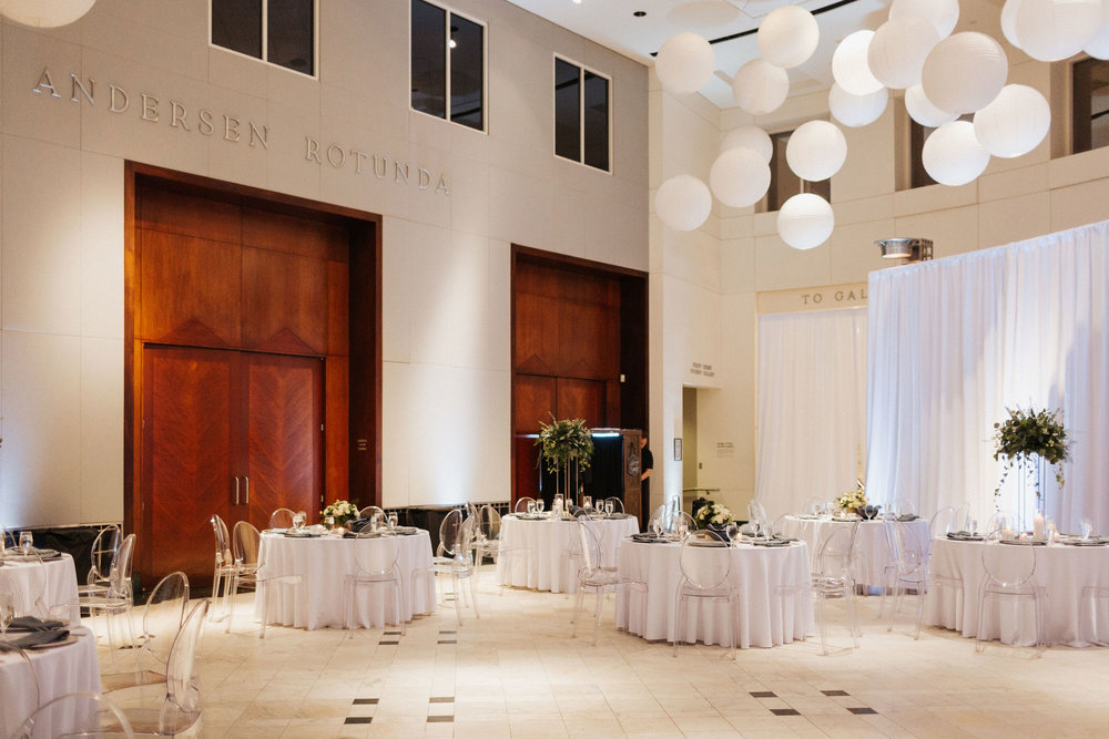 downtown orlando museum of art luxury winter wedding