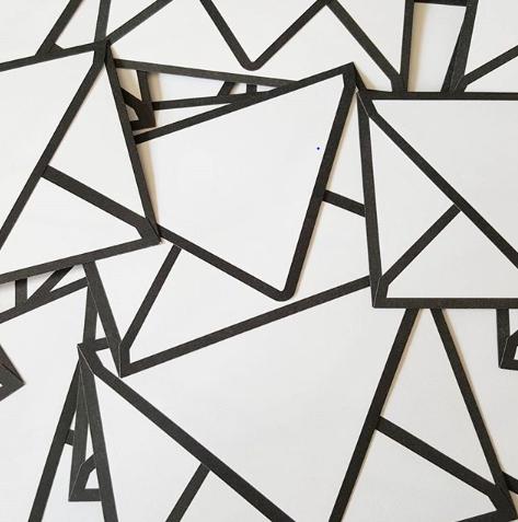 black and white modern wedding envelopes