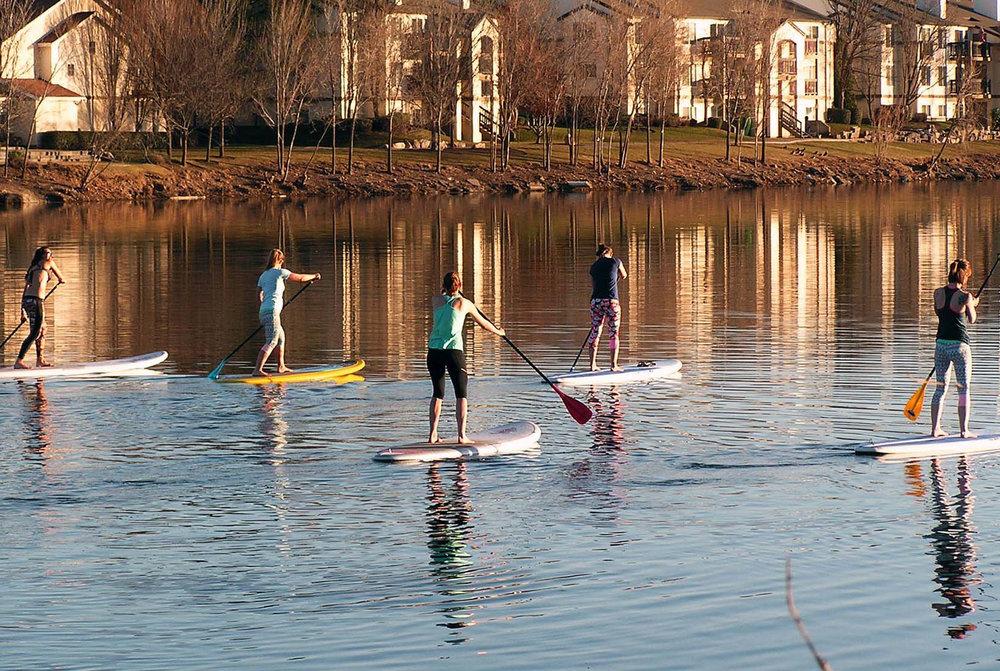 SUP Girls on Quinn's Pond