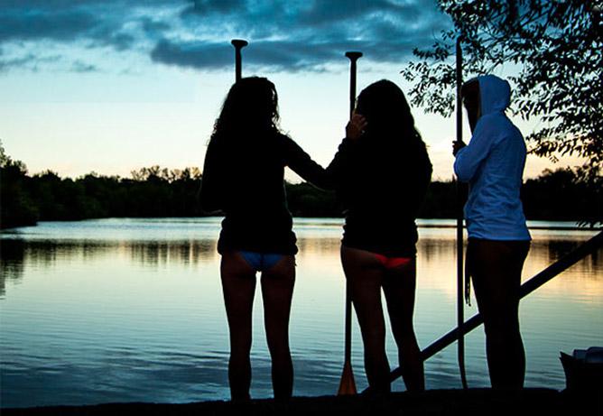 Dawn patrol at Quinn's Pond