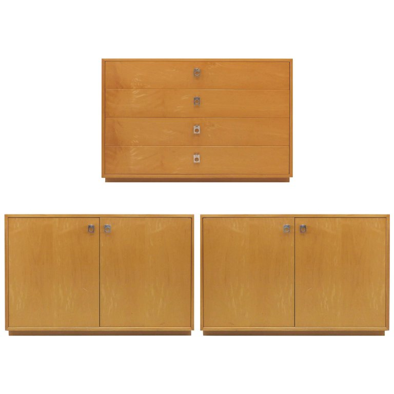 Midcentury Maple Dresser And Cabinets By Jack Cartwright For Founders  Furniture