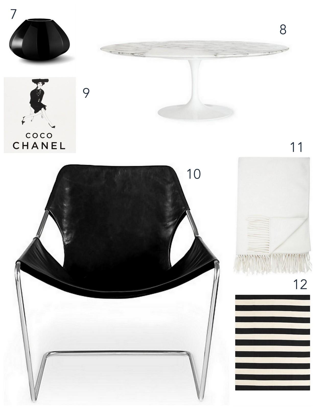 Stark Black And White Living Room