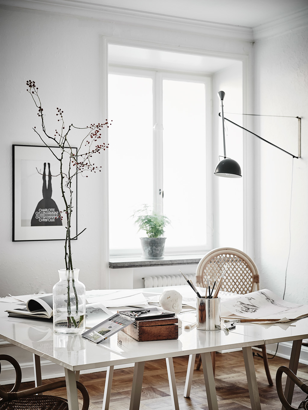 Convert Dining Room to Desk :: House of Valentina