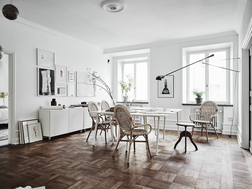 Elegant and White Scandinavian Dining Room  :: House of Valentina
