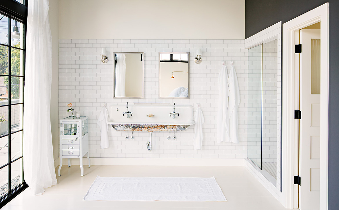 Subway Tile + Vintage Sink :: House of Valentina