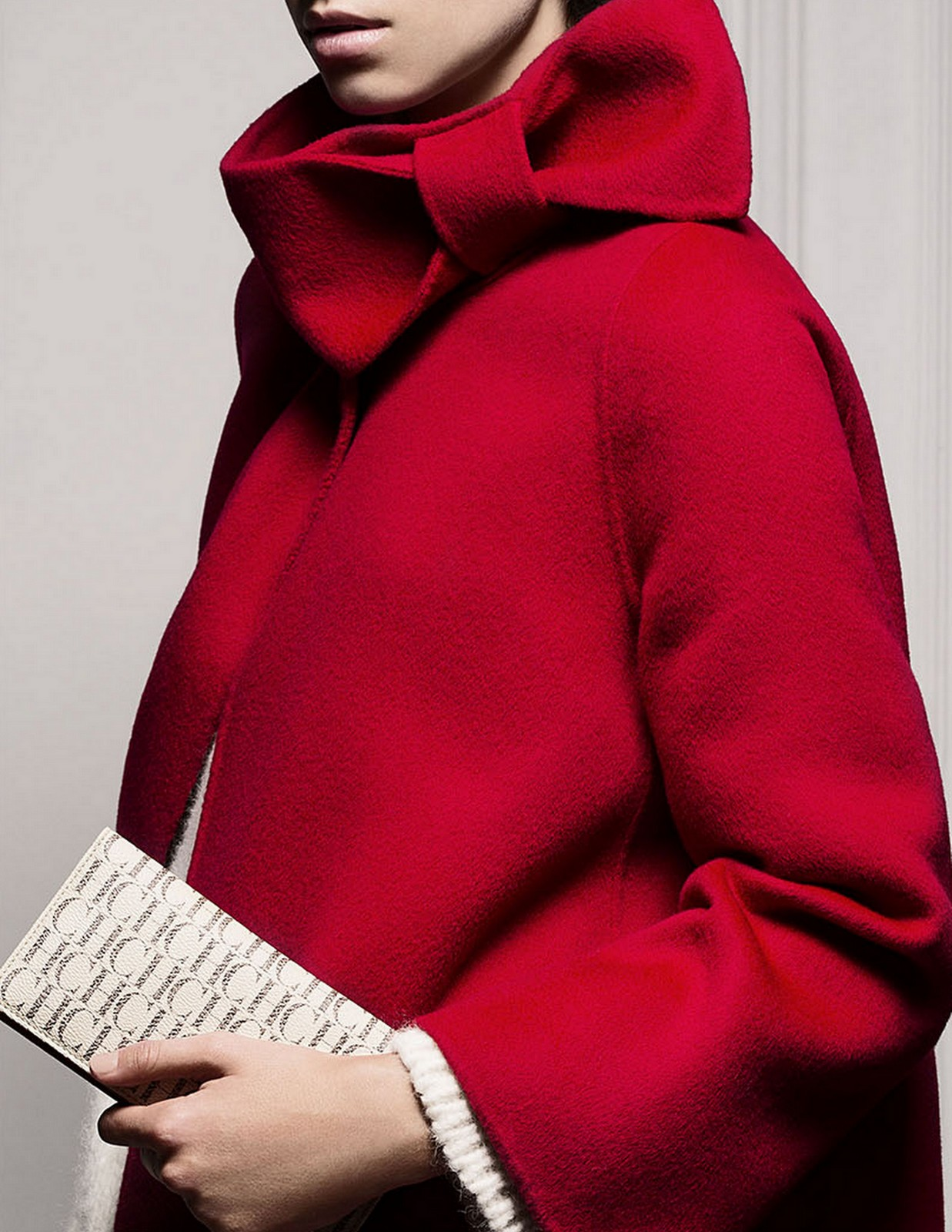 Red Bow Coat :: House of Valentina