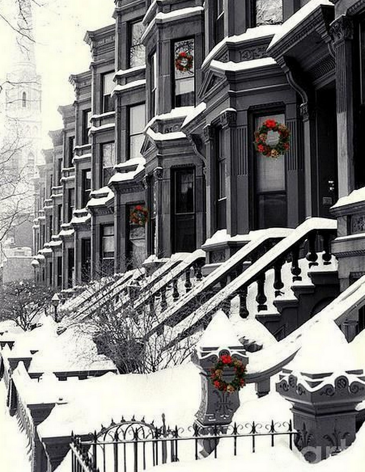 Snowy Brownstone :: House of Valentina