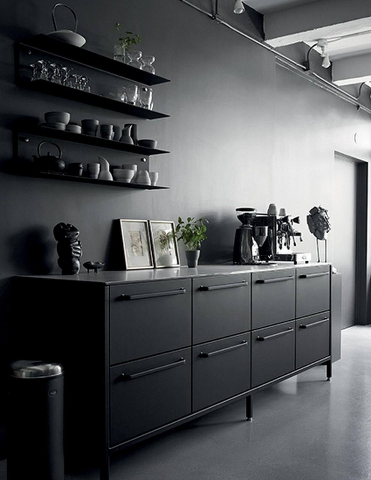Sleek European Black Kitchen :: Vipp :: House of Valentina