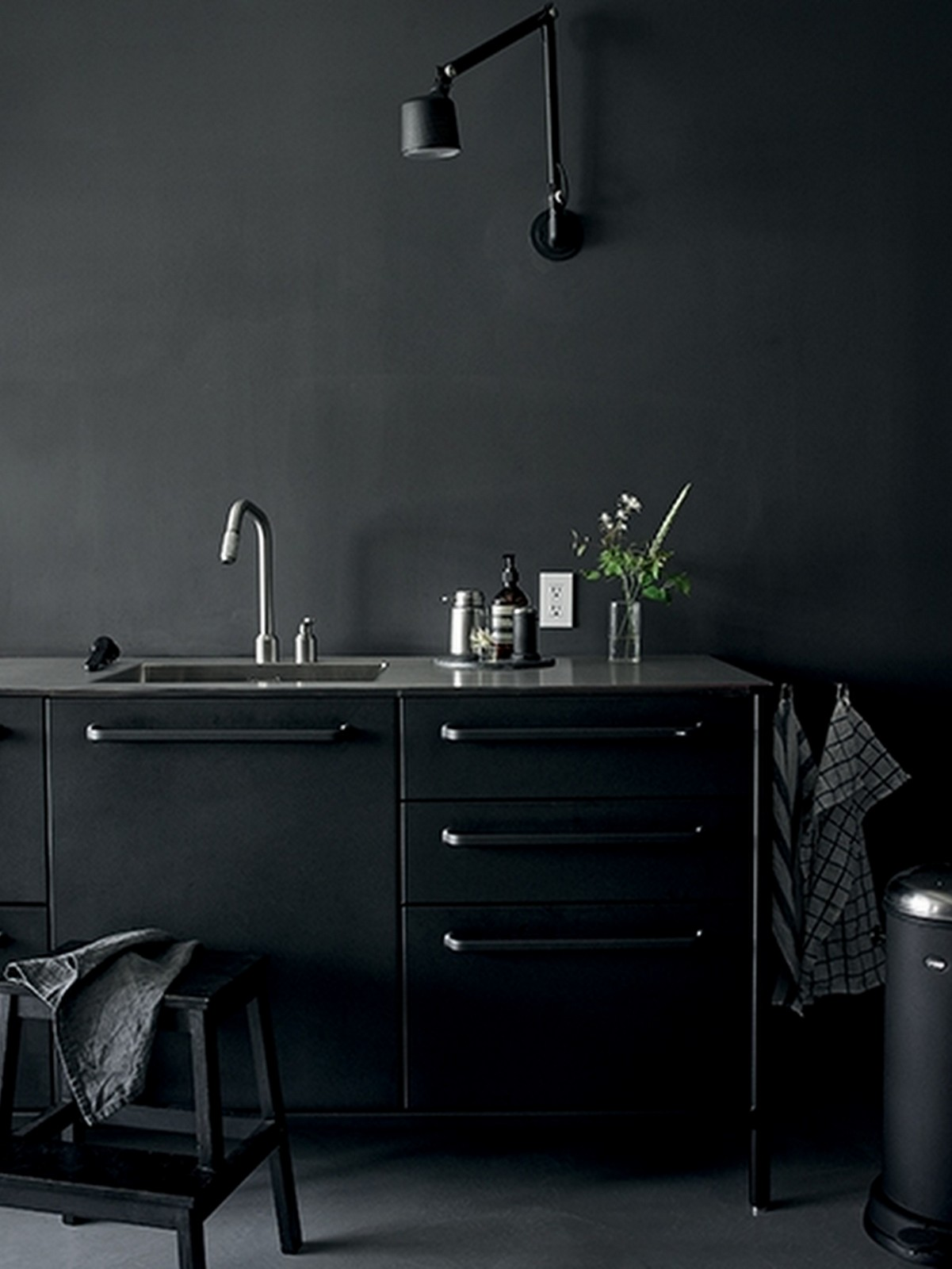 Modern Black Vipp kitchen in NYC :: House of Valentina
