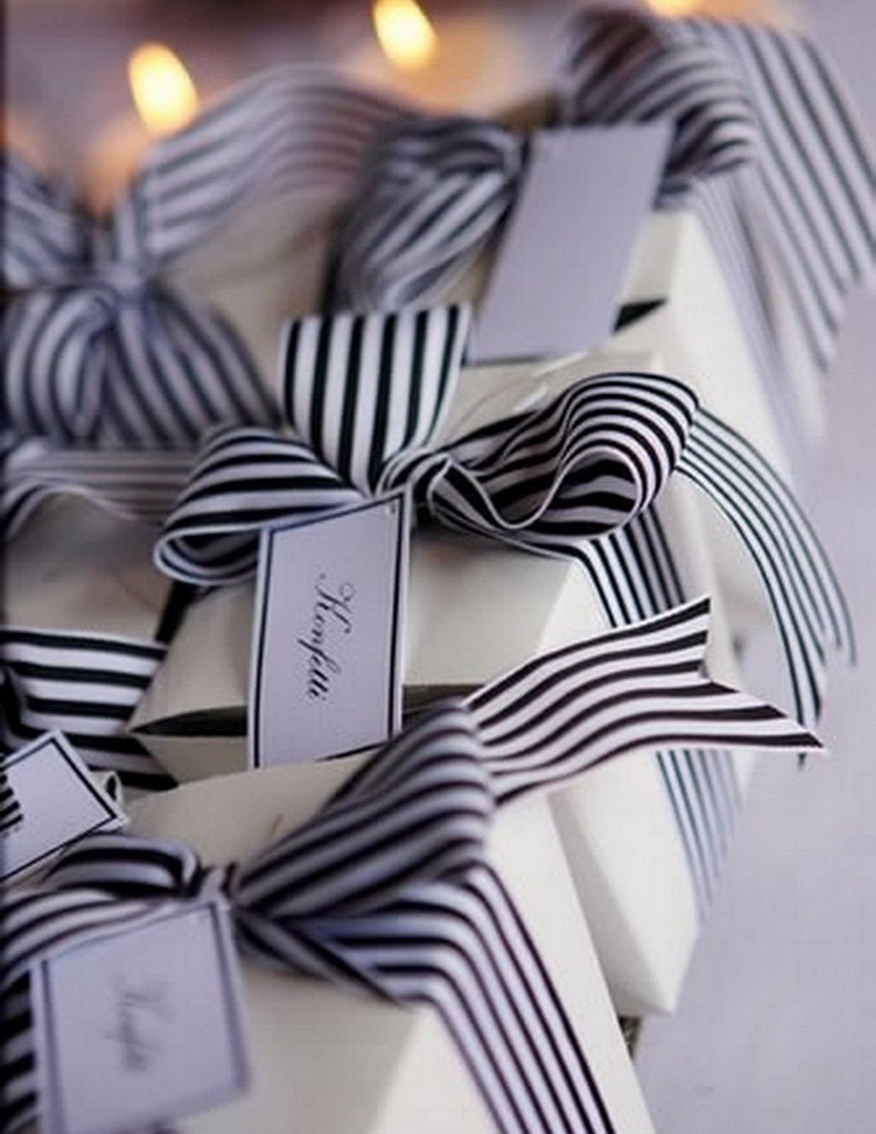 Striped Ribbon Gifts :: House of Valentina