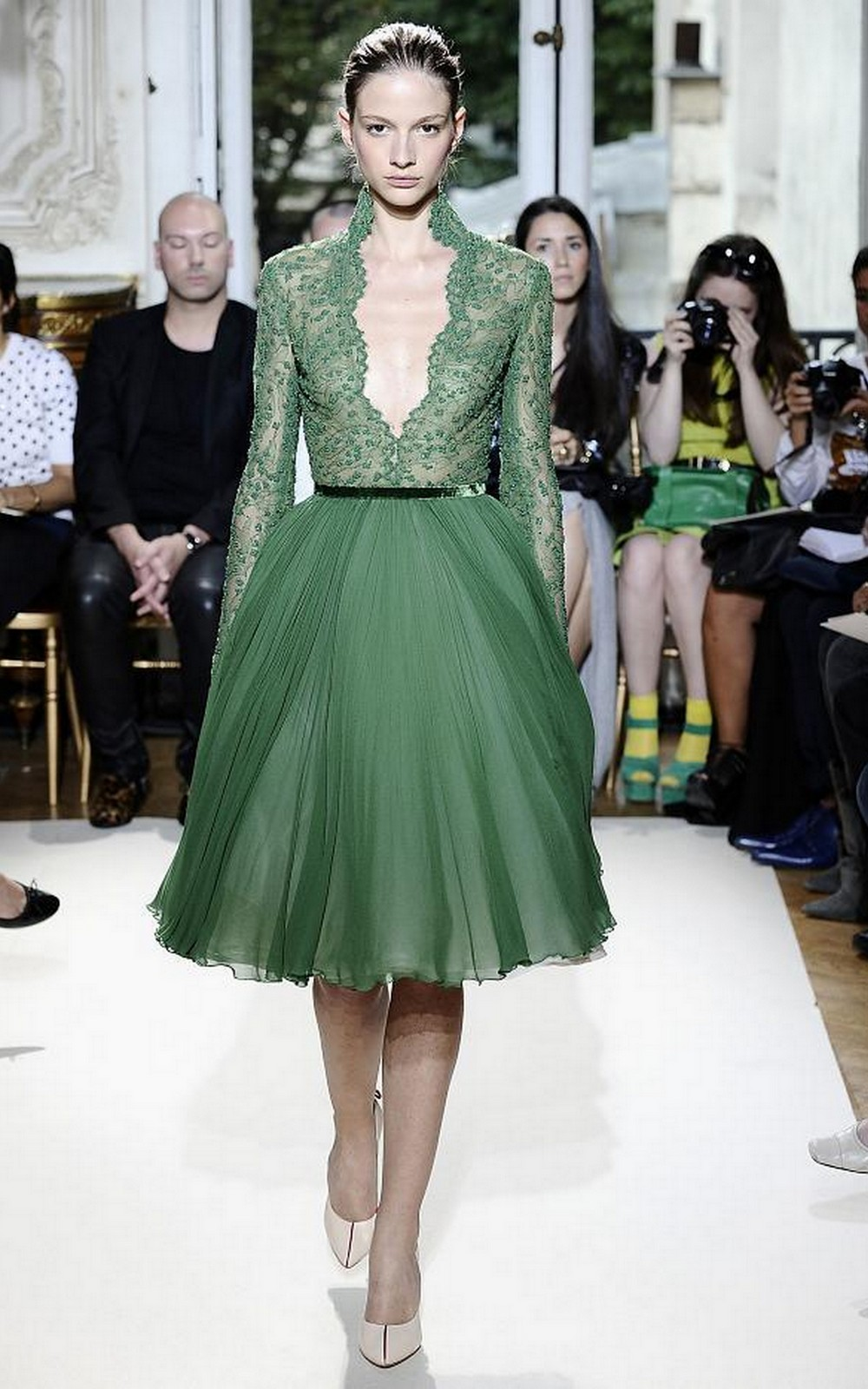 Glamorous Green Christmas Dress :: House of Valentina