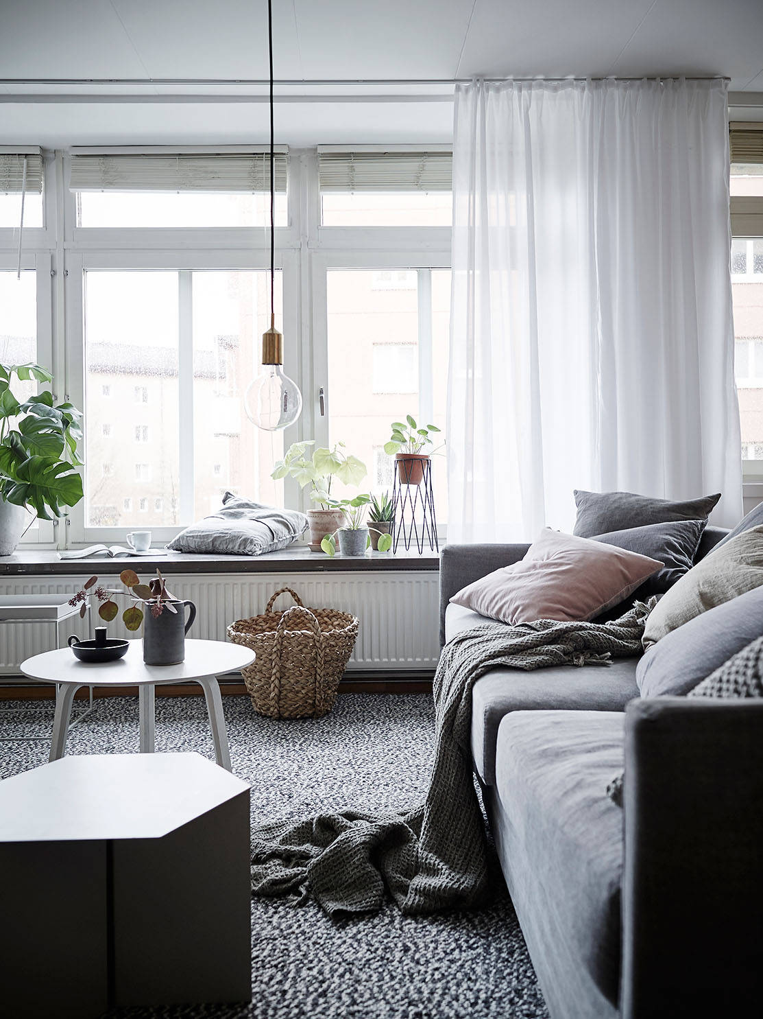 Cozy Scandinavian Living Room :: House of Valentina