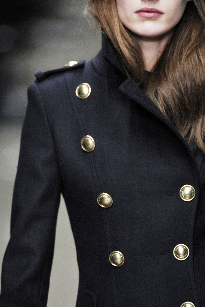 Black + Gold Button Coat :: House of Valentina
