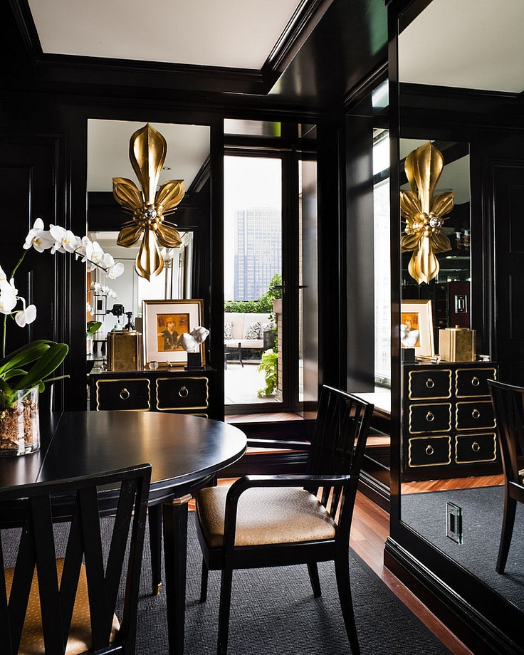 Gold And Black Dining Room :: House of Valentina