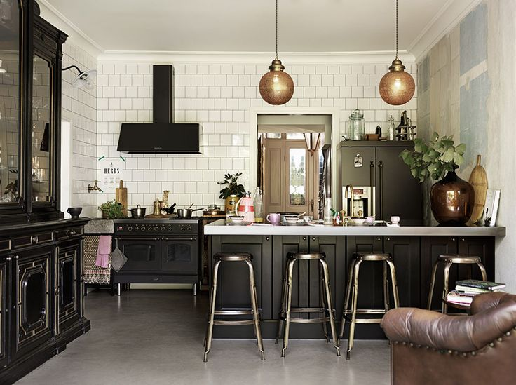 Modern + Traditional Blended Kitchen in Sweden