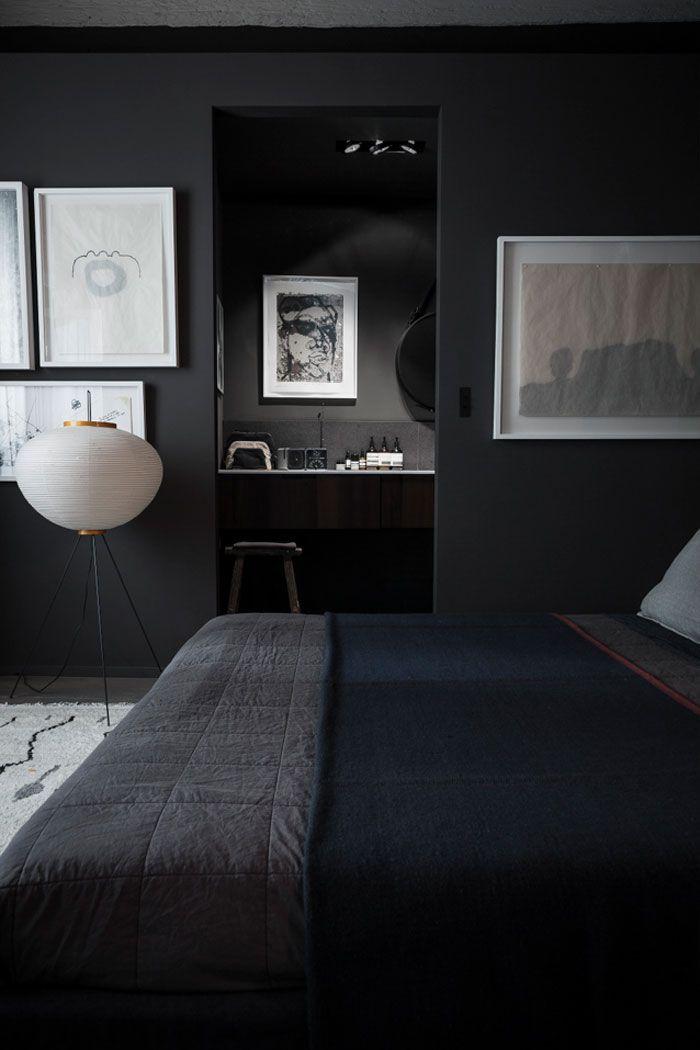 Black + Navy Bedroom