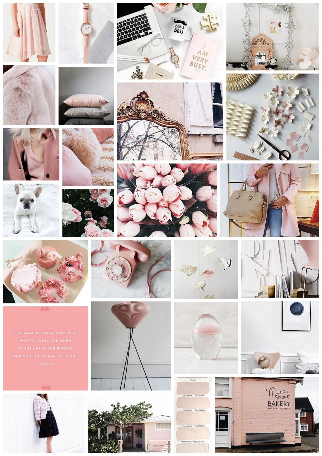 Pink Mood Board :: House of Valentina