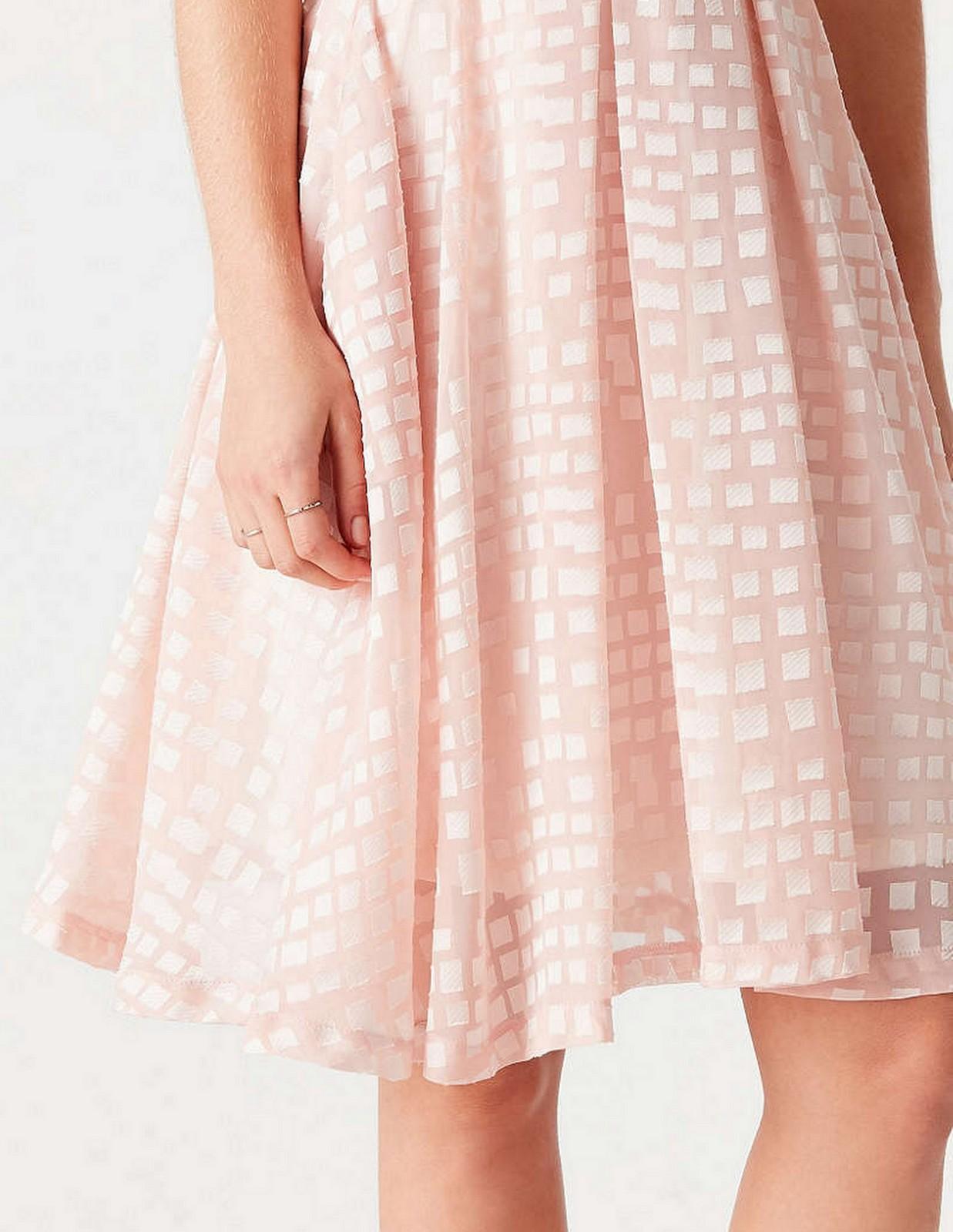 Pink Midi Skirt :: House of Valentina