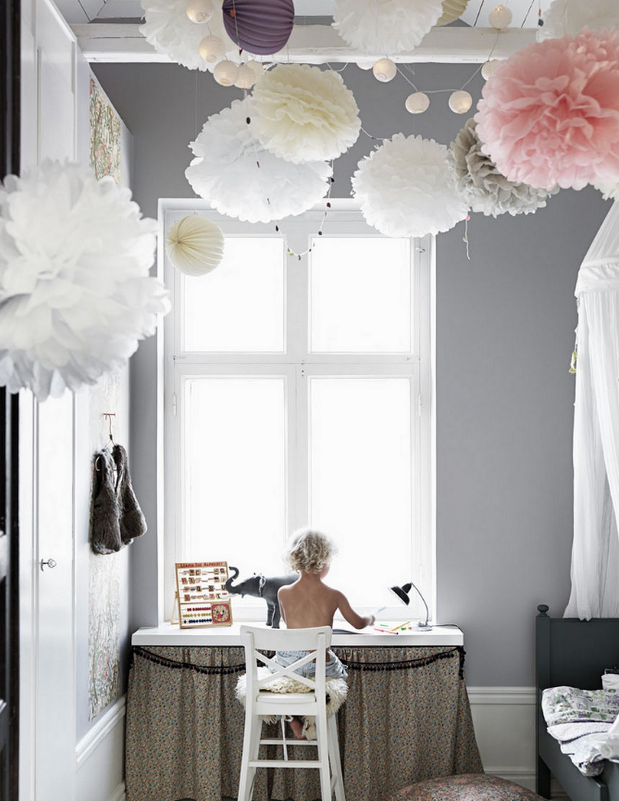Beautiful Scandinavian Kid Room