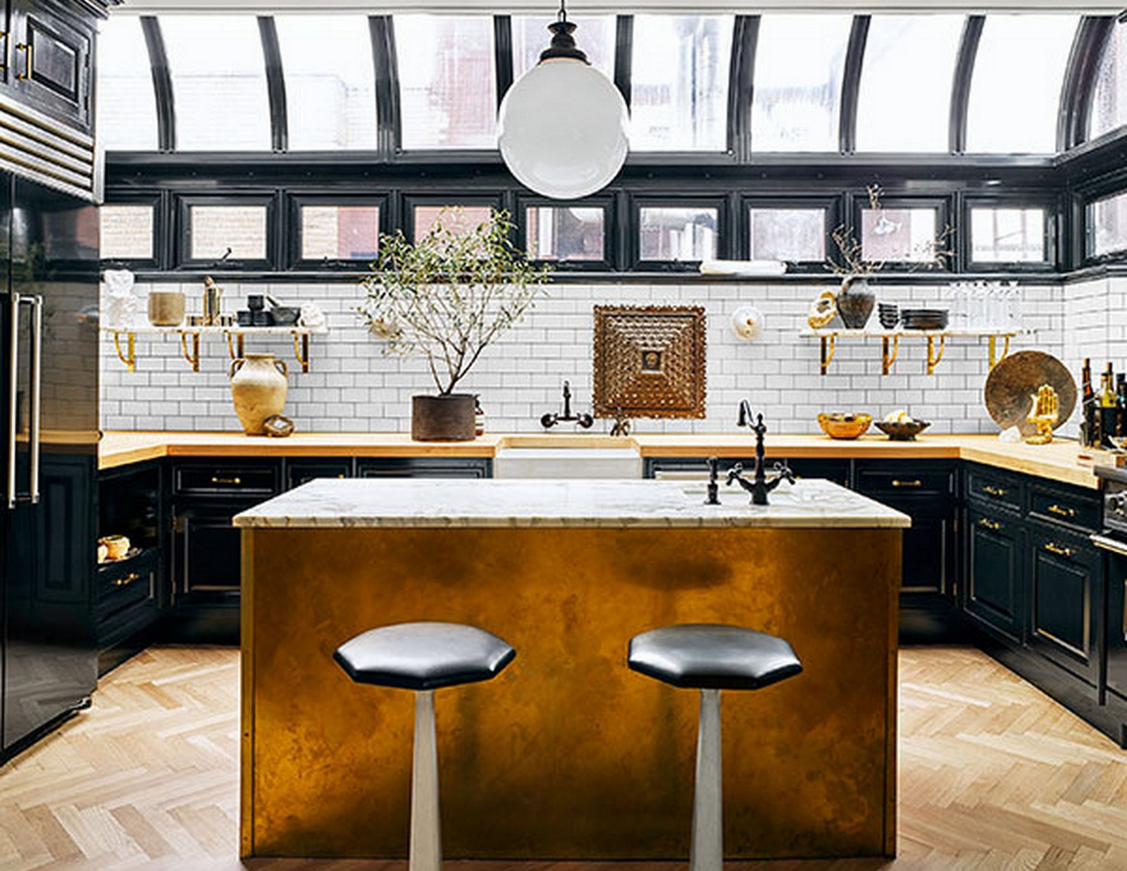 Gold Kitchen :: Architectural Digest