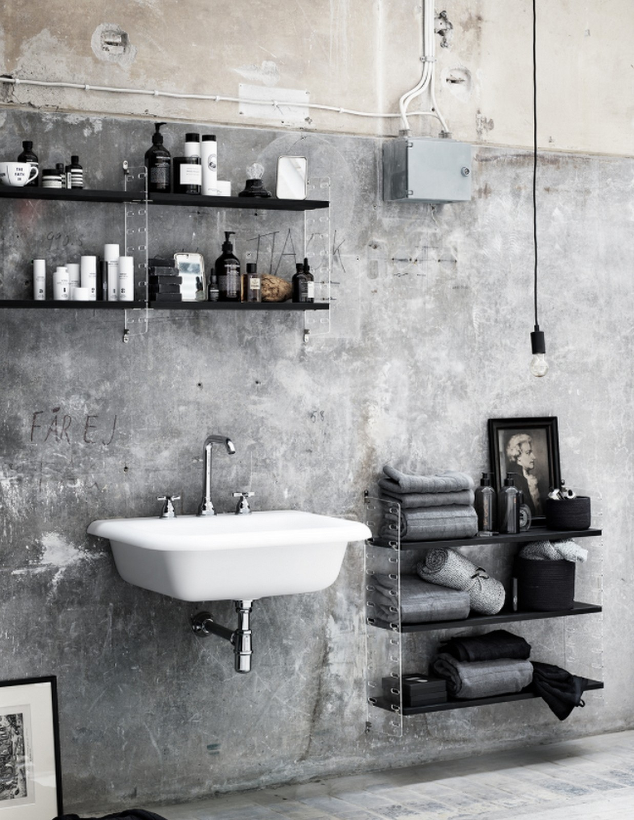 Rustic Modern Bathroom :: Featured on House of Valentina