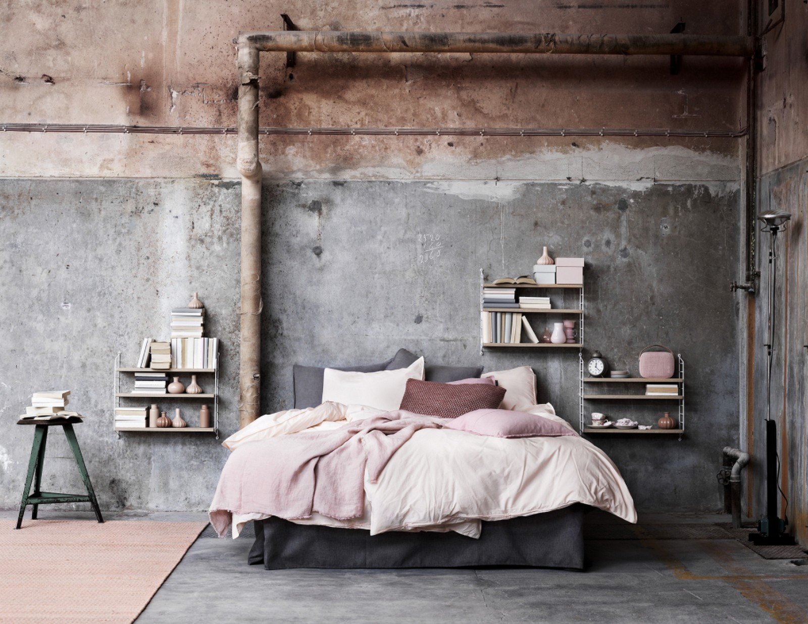 Rustic Modern Bedroom :: Featured on House of Valentina