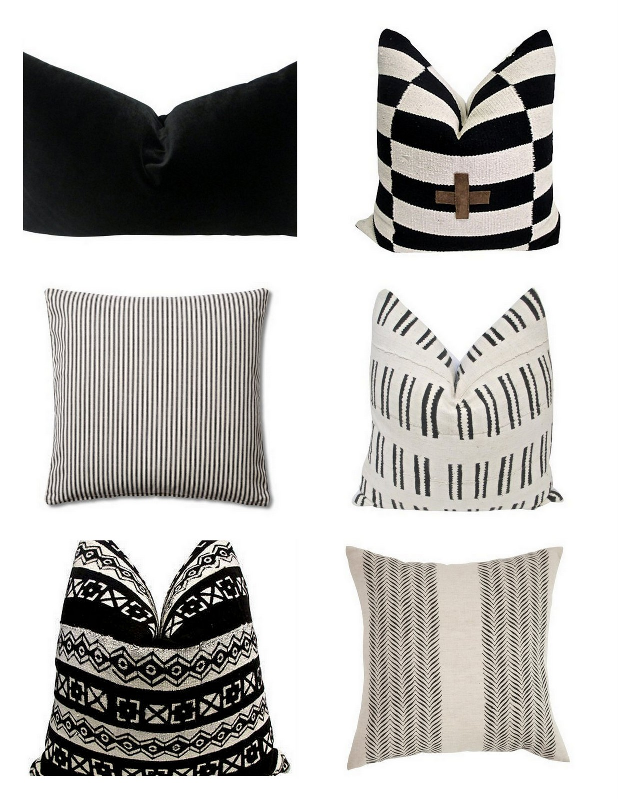 BLACK & WHITE PILLOWS :: House of Valentina
