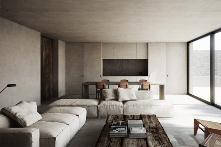 RAW + NATURAL LIVING ROOM