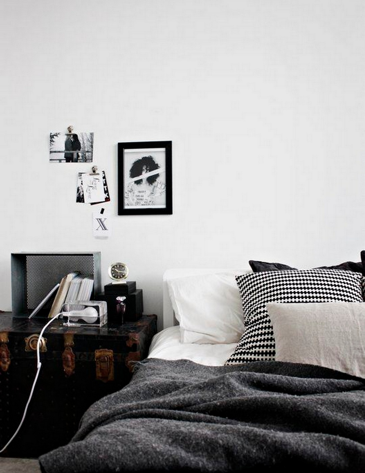 Warm + Monochrome Bedroom