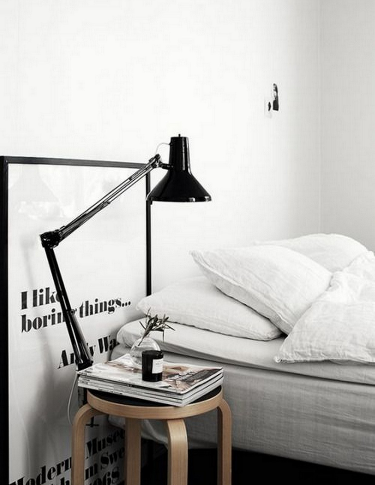 Black + White Bedroom