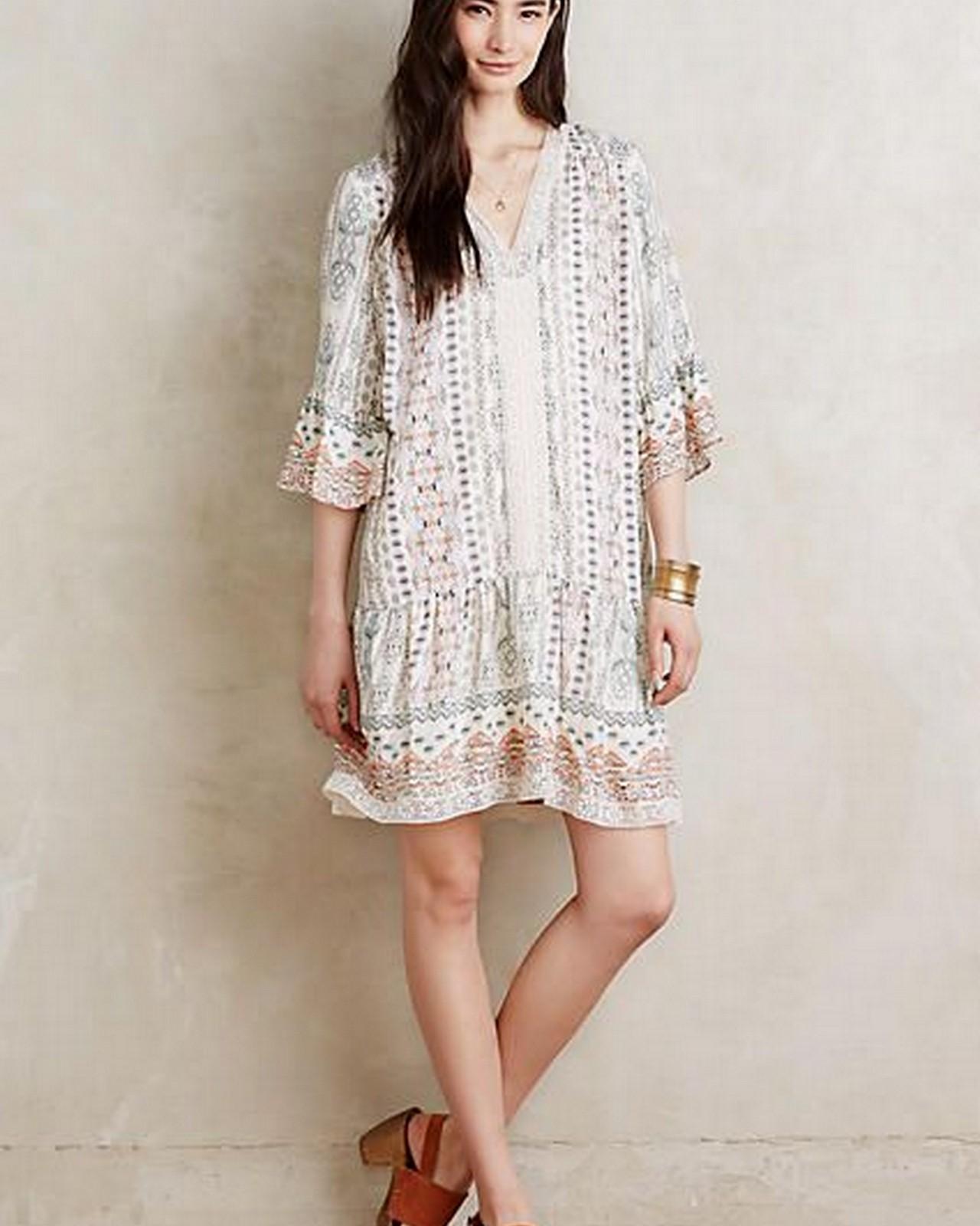 Pale Bohemian Dress