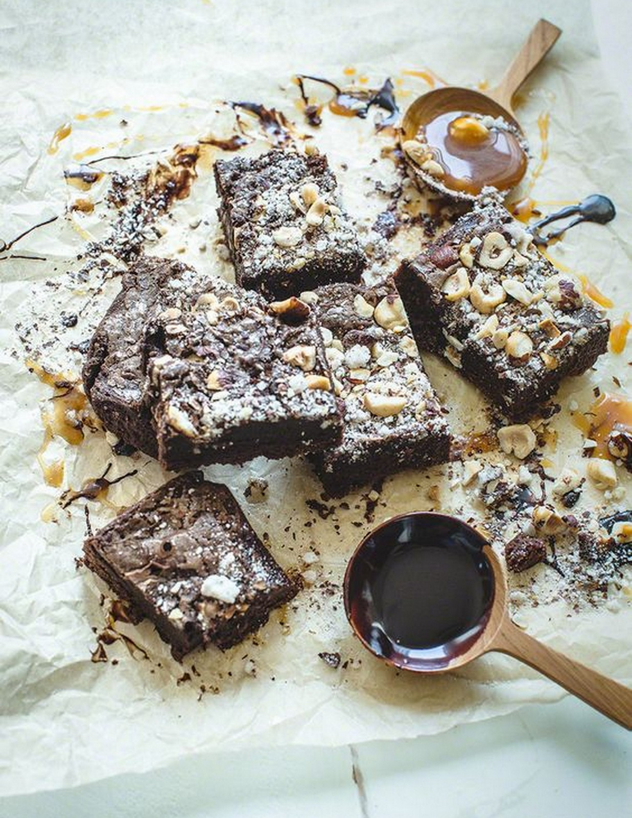 Whiskey Caramel Brownies
