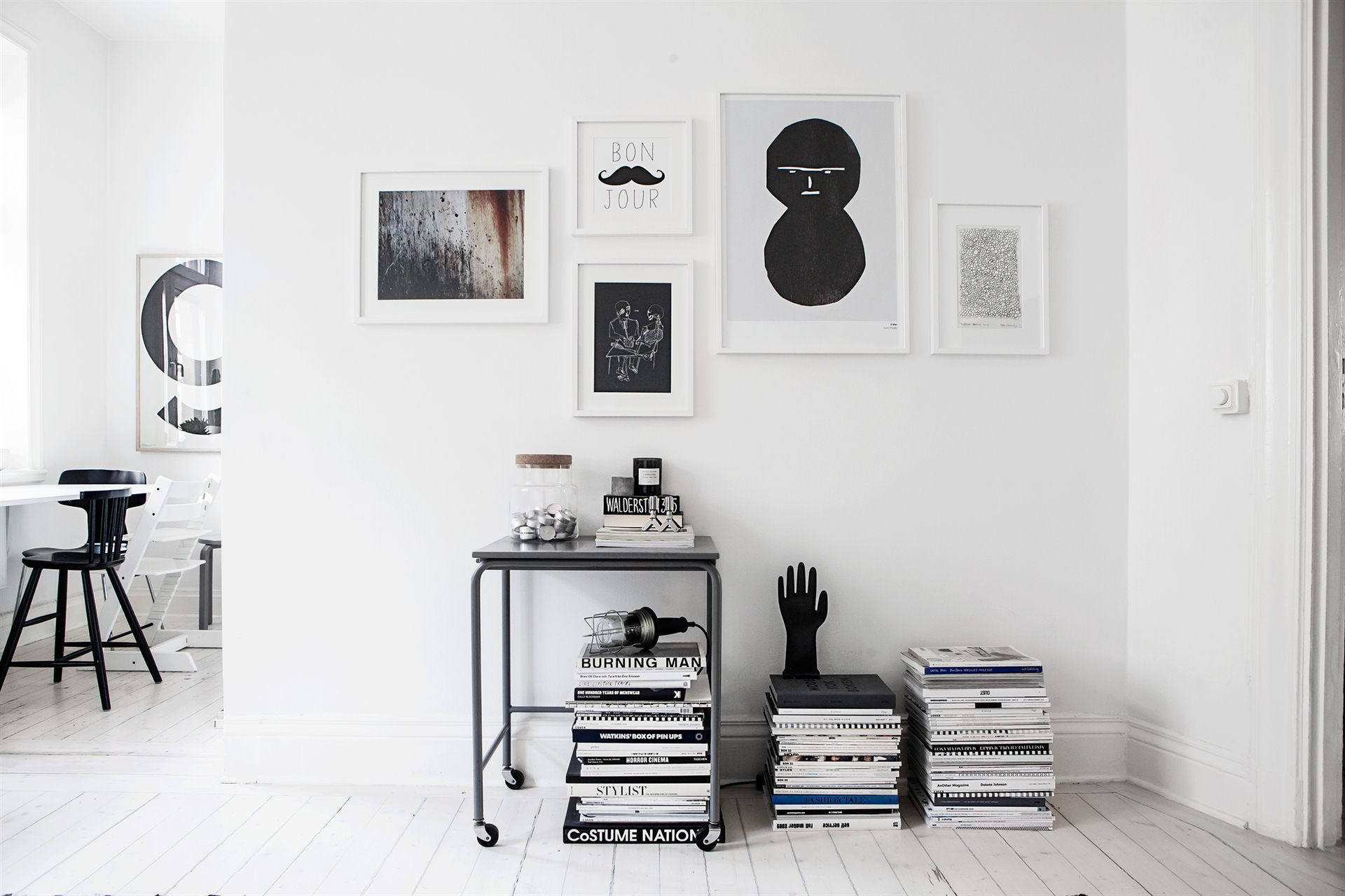 Monochrome Home :: Featured on House of Valentina