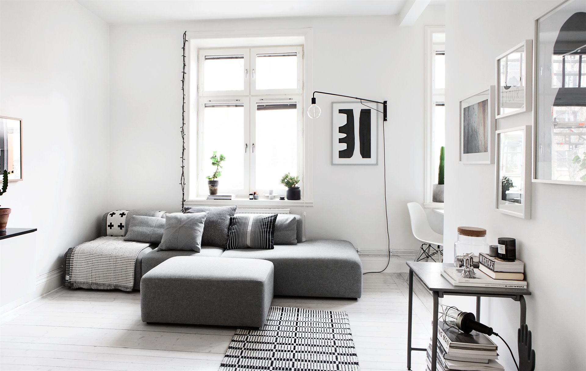 Monochrome Living Room :: Featured on House of Valentina