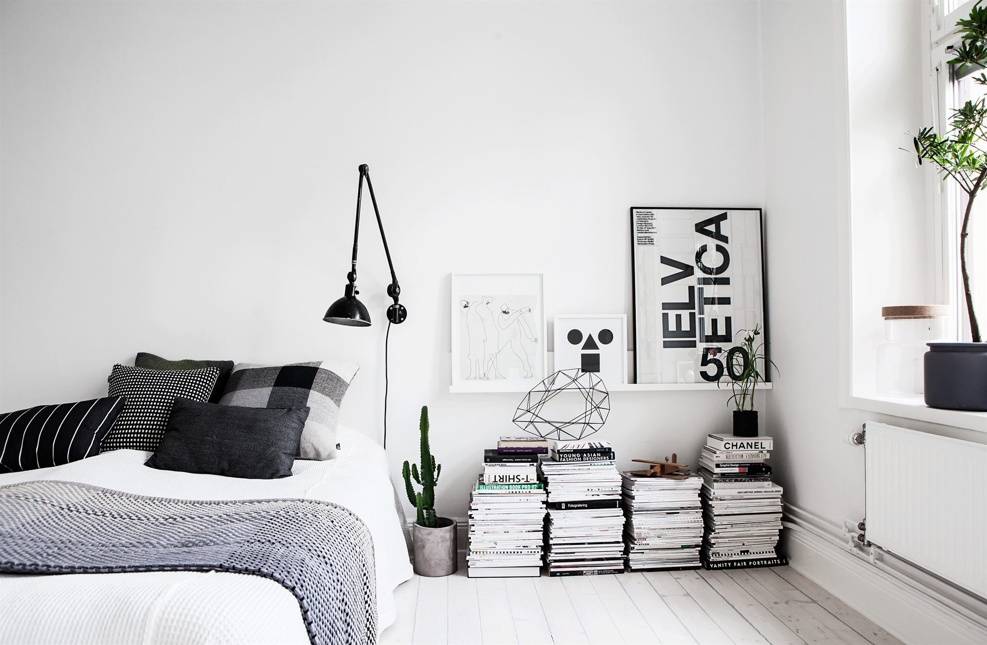 Monochrome Bedroom :: Featured on House of Valentina