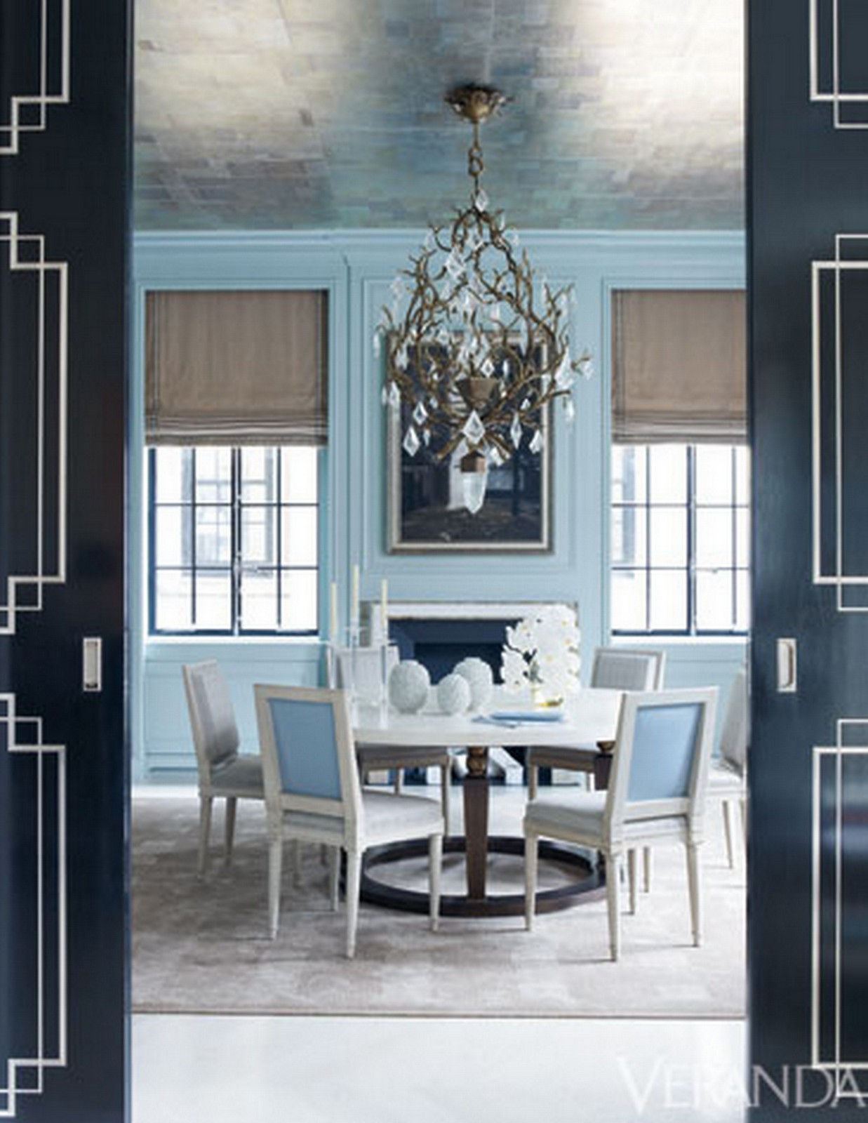 Pale Blue Dining