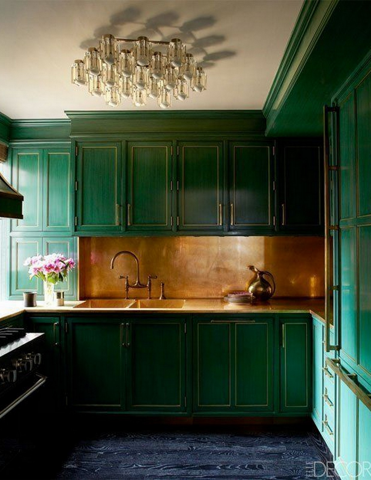 Emerald Green Kitchen | House of Valentina