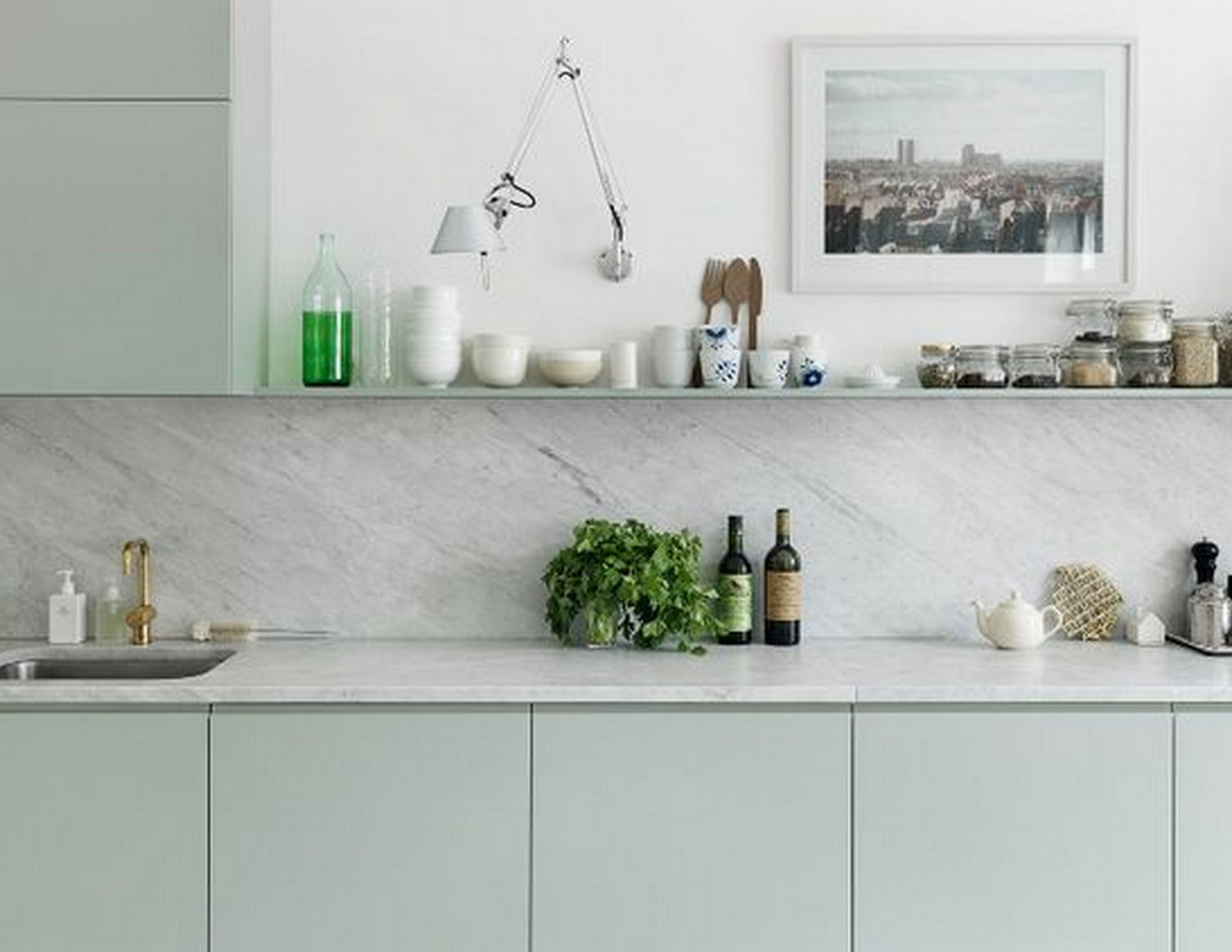 Mint Green Kitchen | House of Valentina