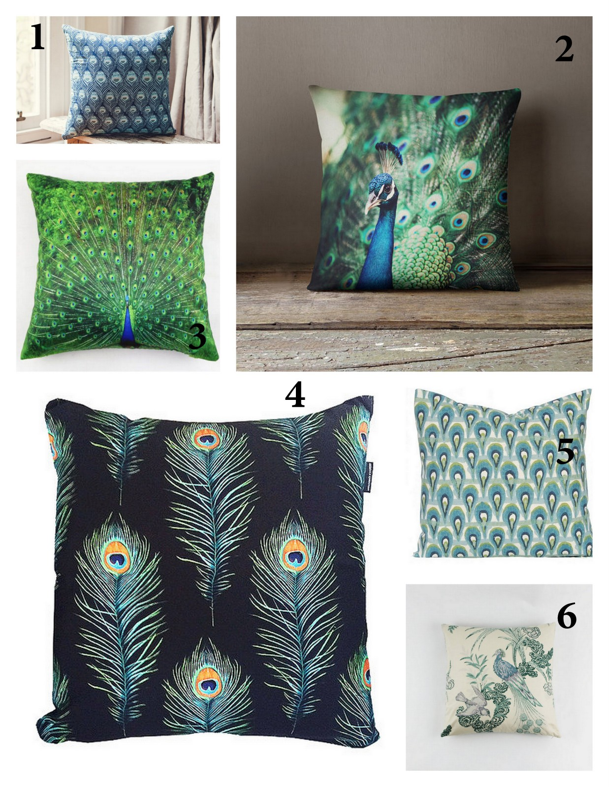 Best Peacock Pillows :: House of Valentina