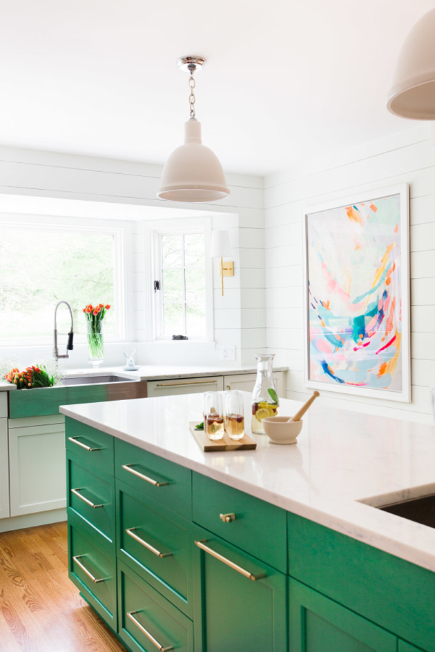 Shamrock Green Kitchen | House of Valentina