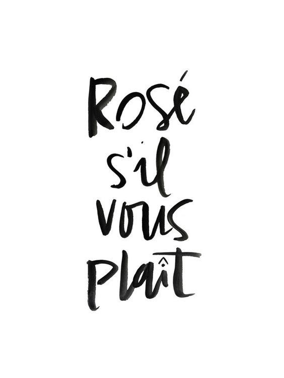 Rosé s'il vous plaît