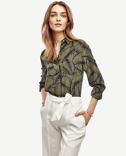 GREEN PALM BLOUSE