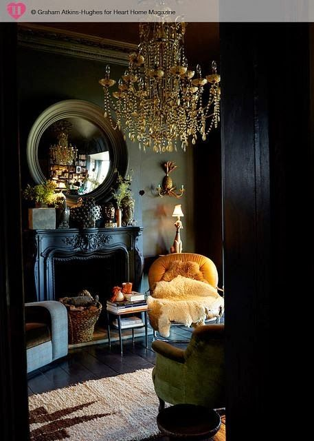 Top Black Fireplace :: House of Valentina