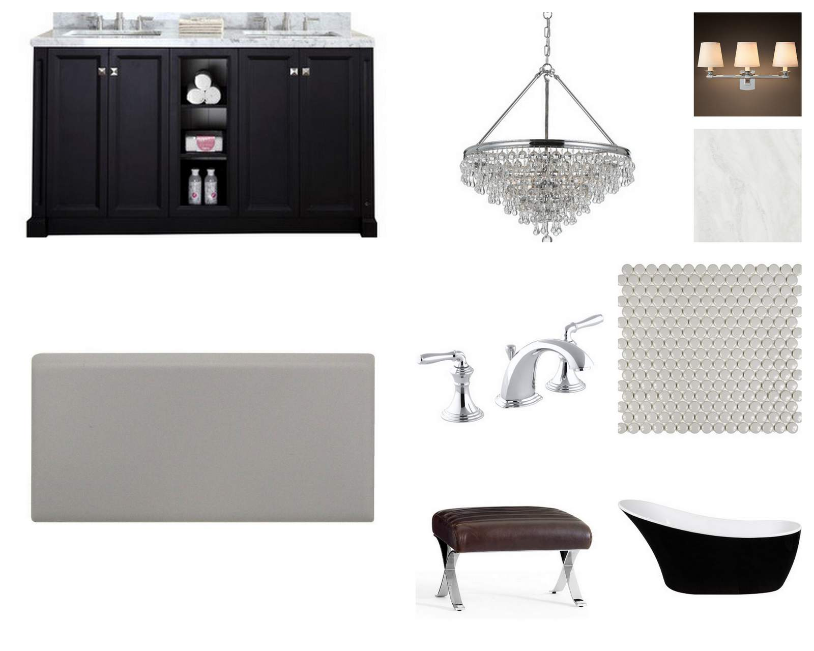 Glamorous, Elegant, & Modern Bathroom Renovation :: House of Valentina