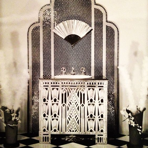 Art Deco Bathroom :: House of Valentina