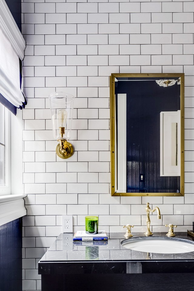 Navy Bathroom | House of Valentina